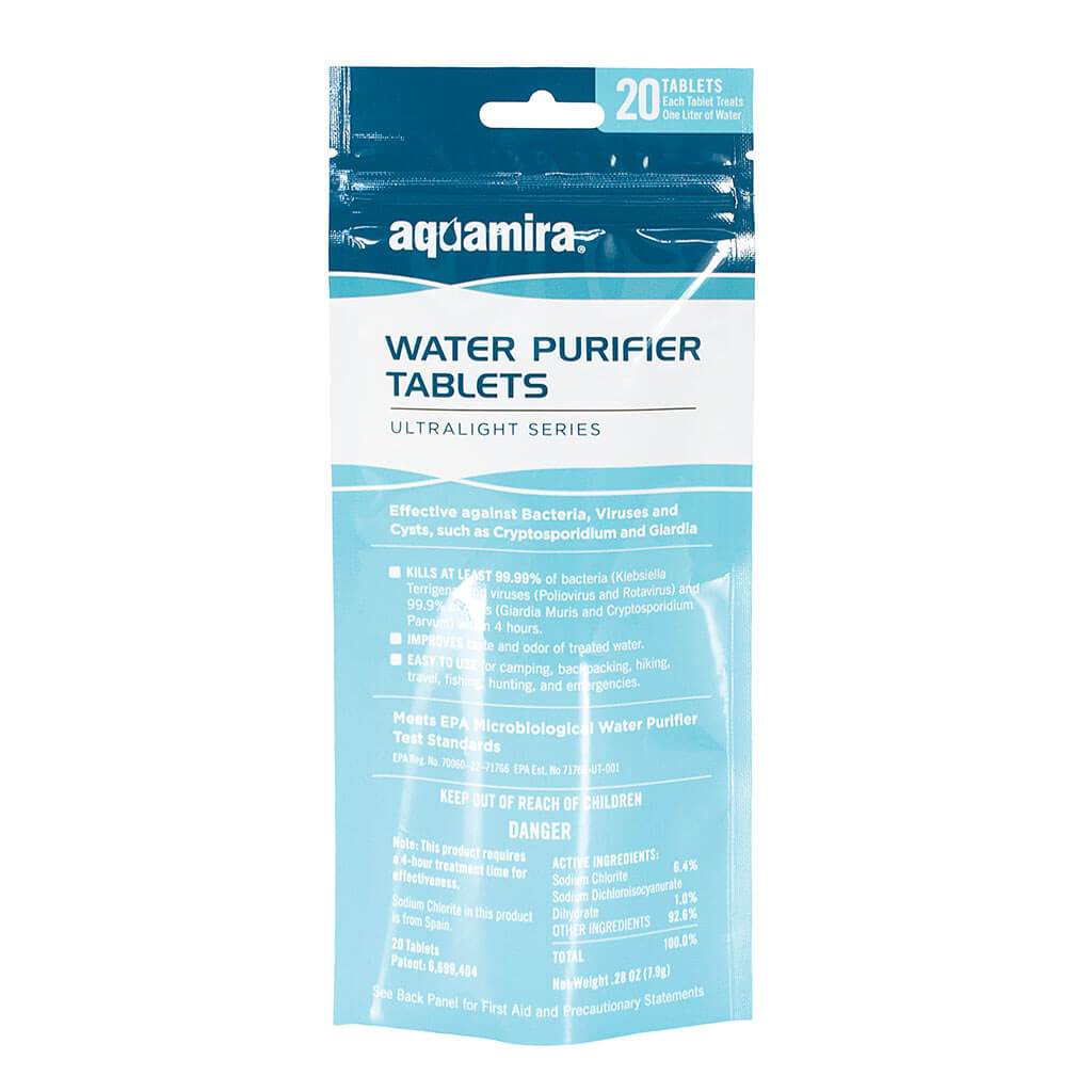 Camping Chemical Water Treaters Aquatabs Water Purification